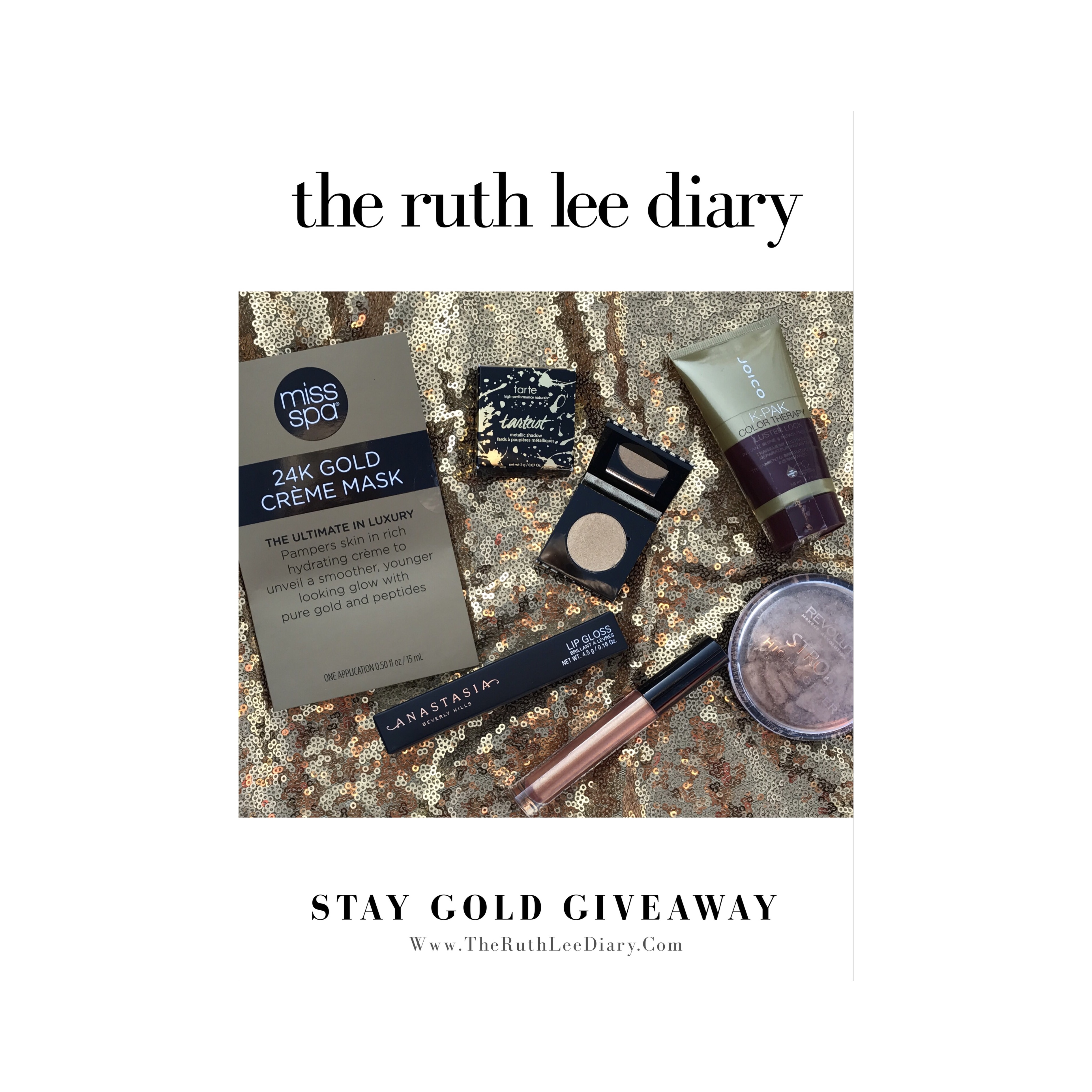 The Ruth Lee Diary: STAY GOLD GIVEAWAY!